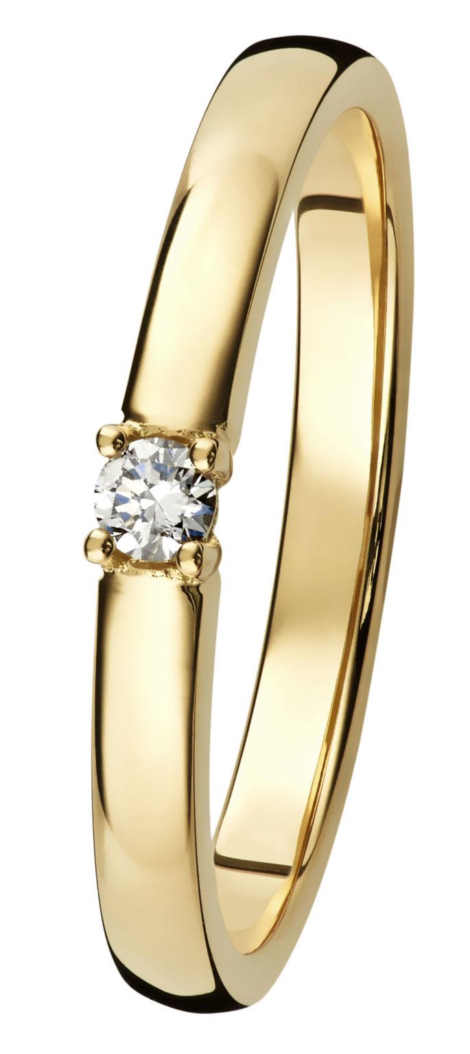 Margit yksikivinen timanttisormus