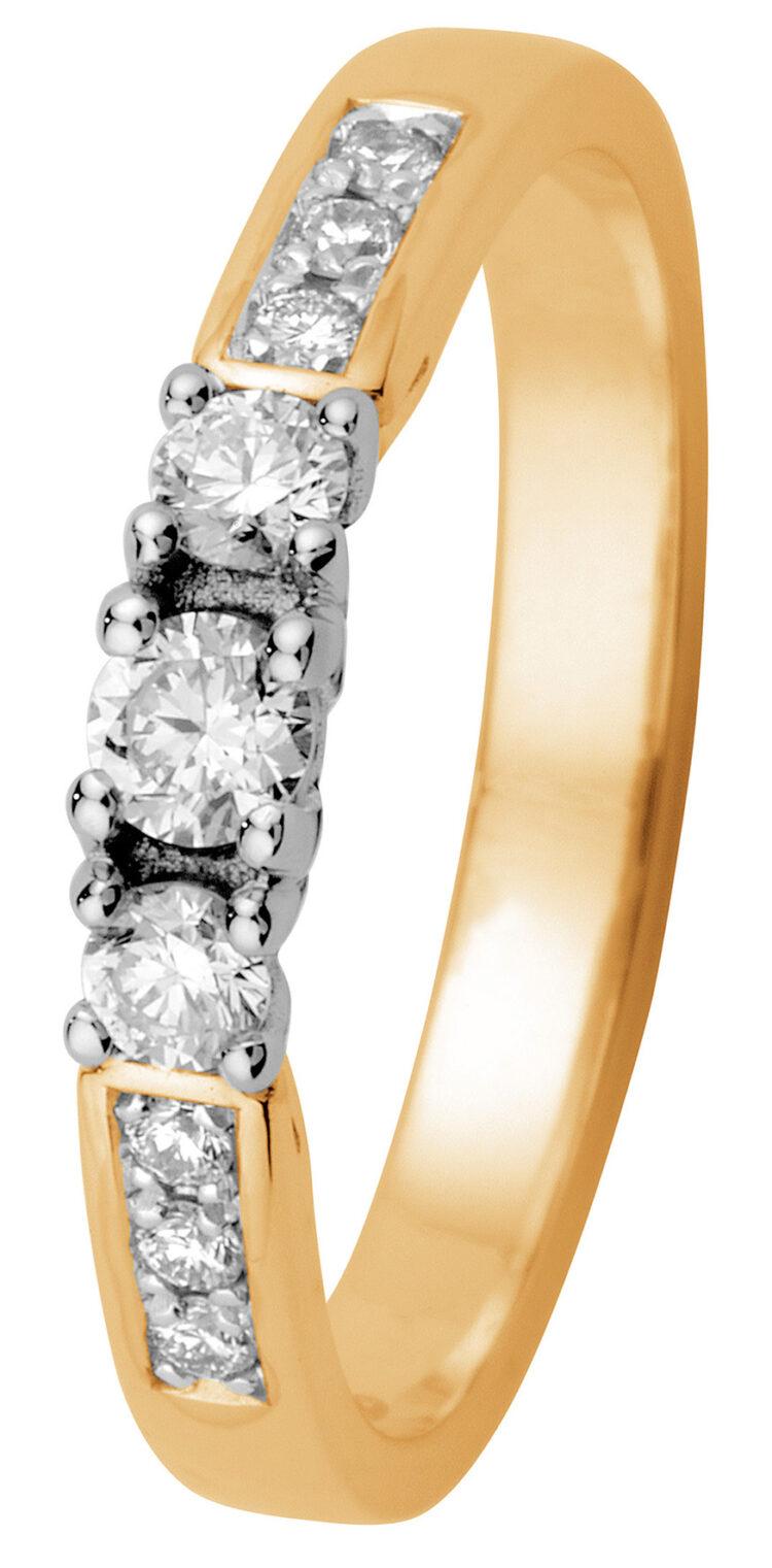 Margit keltakulta timanttisormus