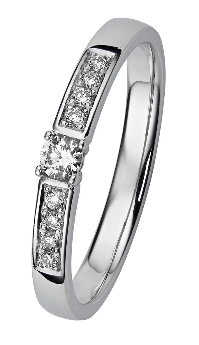 Margit valkokultainen timanttisormus