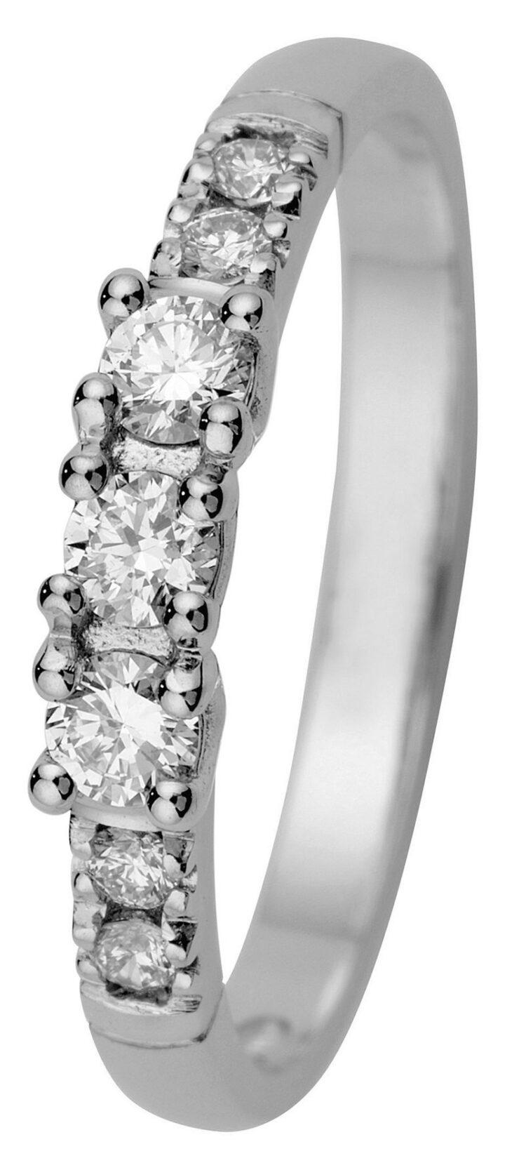 Estelle valkokultainen timanttisormus