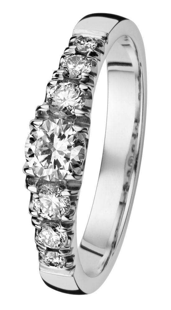 Cristal valkokulta timanttisormus