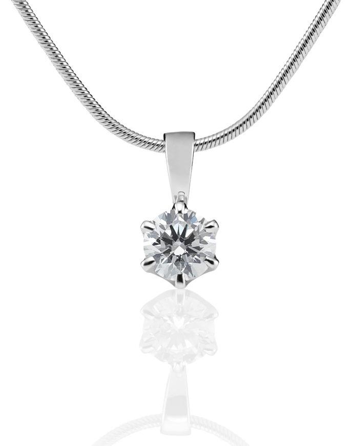 Polaris valkokultainen timanttiriipus