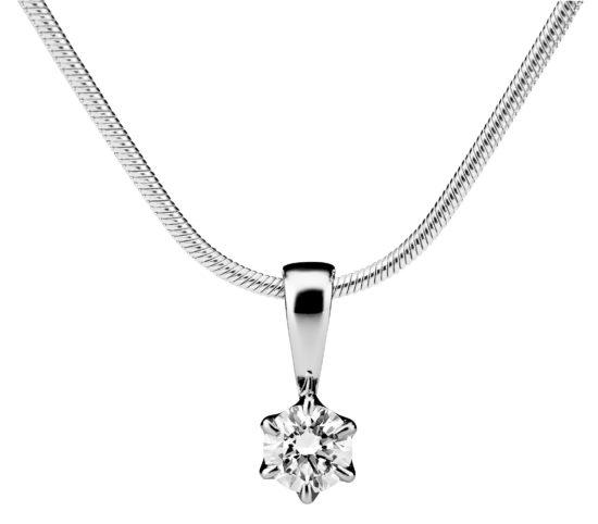 Leonora valkokultainen timanttiriipus