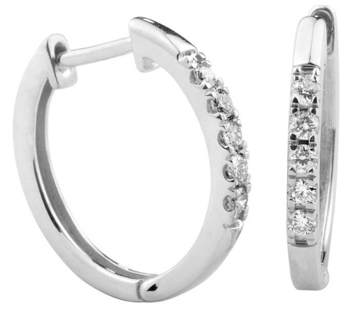 Estelle valkokultainen timanttikorvakoru
