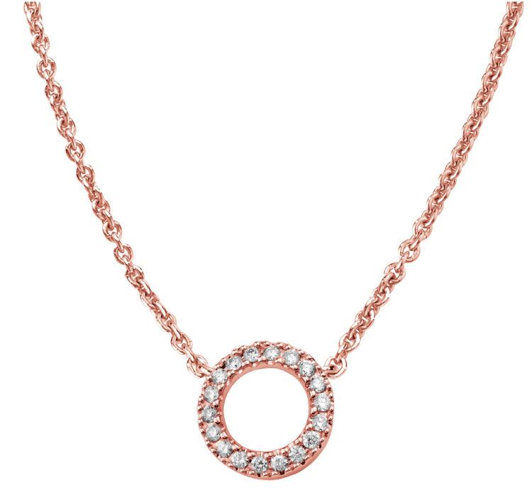 Estelle punakultainen timanttikaulakoru