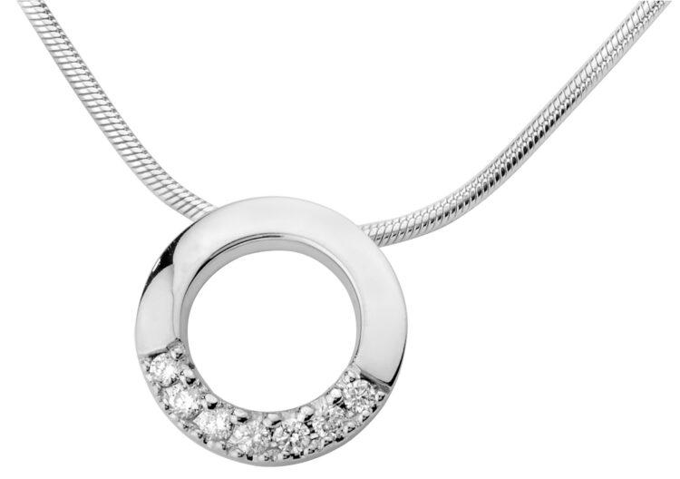 Estelle valkokultainen timanttiriipus