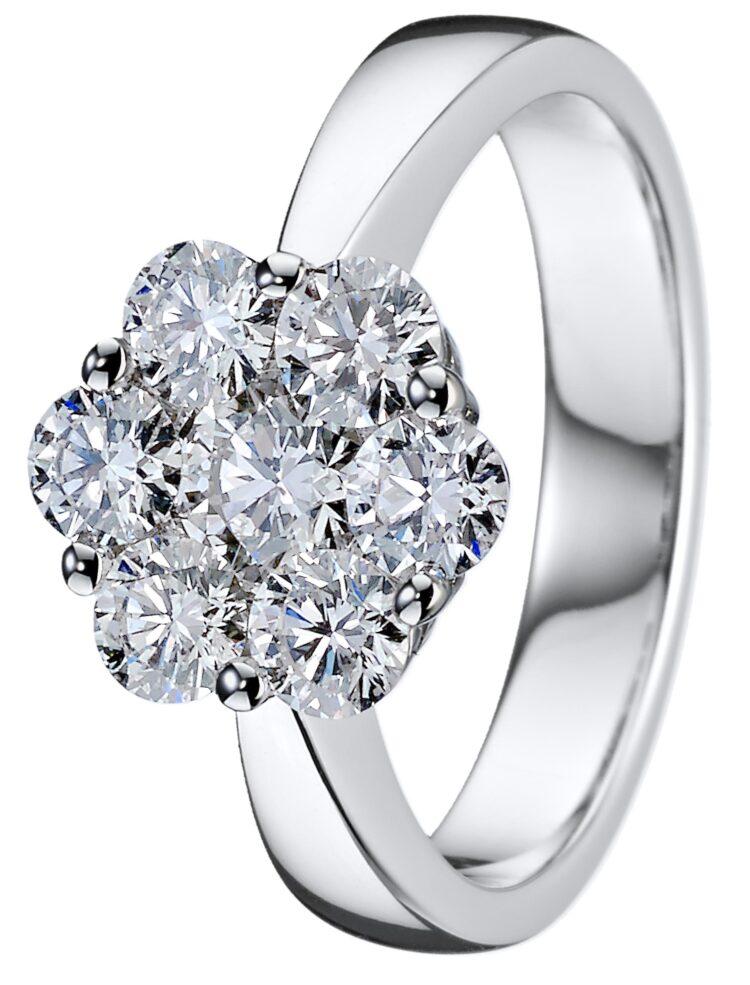 Dahlia timanttisormus valkokultainen ihanuus, jos etsii vihkisormusta