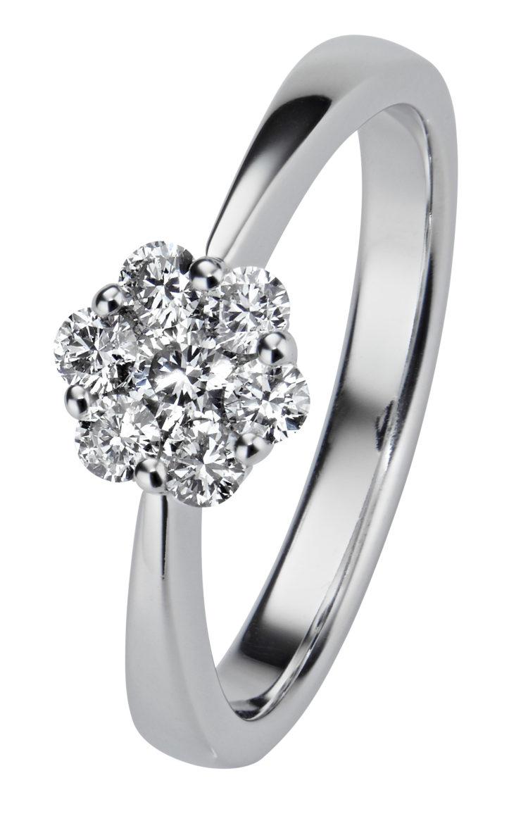 Upea Dahlia on valokultainen timanttisormus