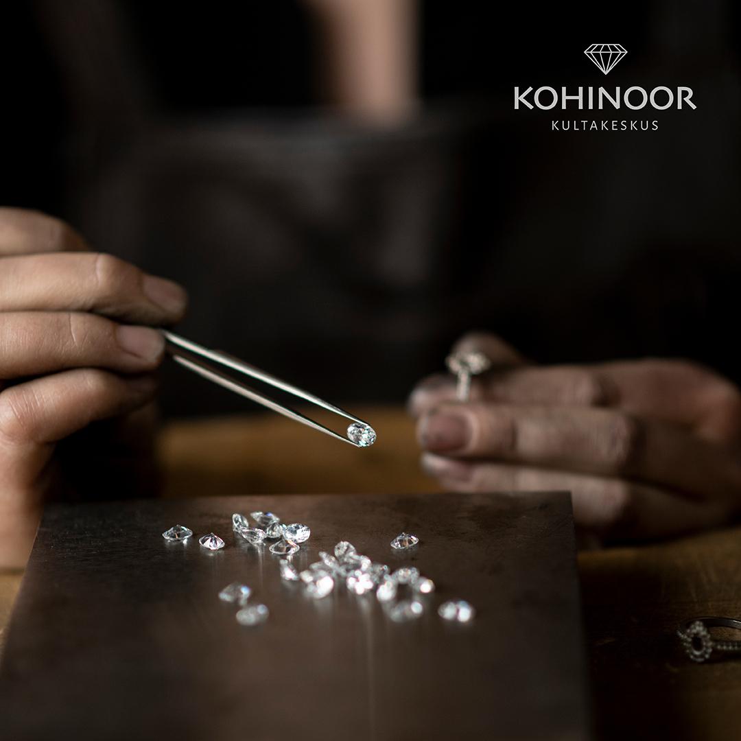 Kohinoor-video - timanttisormuksen valmistus